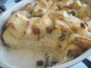 Bread Pudding in pan