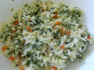 Carrot_spinach_rice_cook