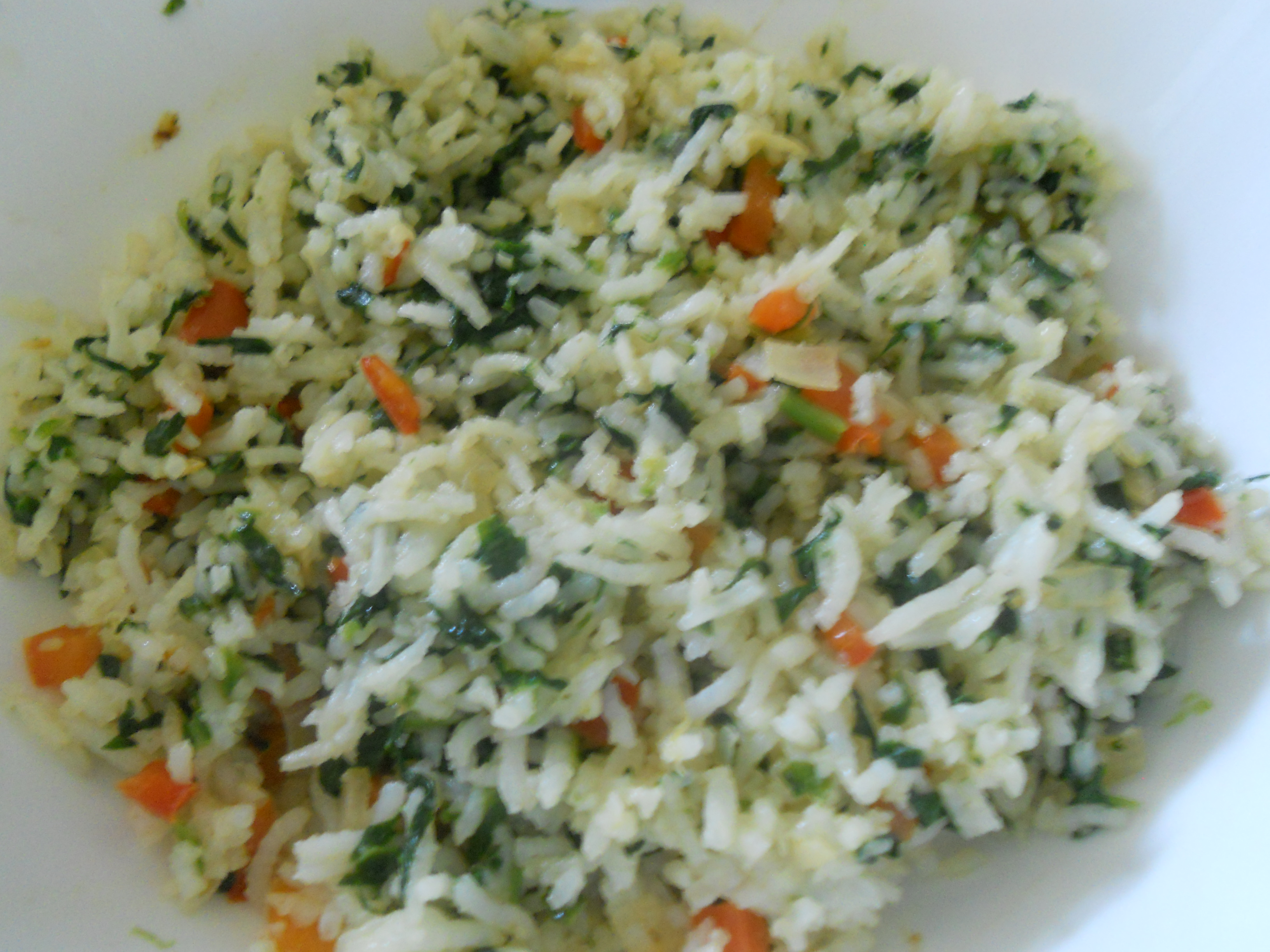 Carrot Spinach Rice | Indian Kitchen – Cooking Recipes