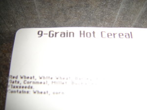 9 grain hot cereal name