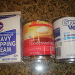 Three types of milk
