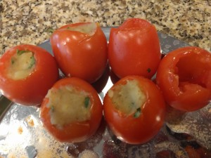 Potato stuffed into tomato